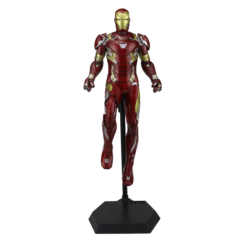 Free Shipping 12 Super Hero Ironman Iron Man Mark 46 MK IVVI CT Ver. Boxed 30cm PVC Action Figure Model Doll Toys Gift 2017 new avengers super hero iron man hulk toys with led light pvc action figure model toys kids halloween gift