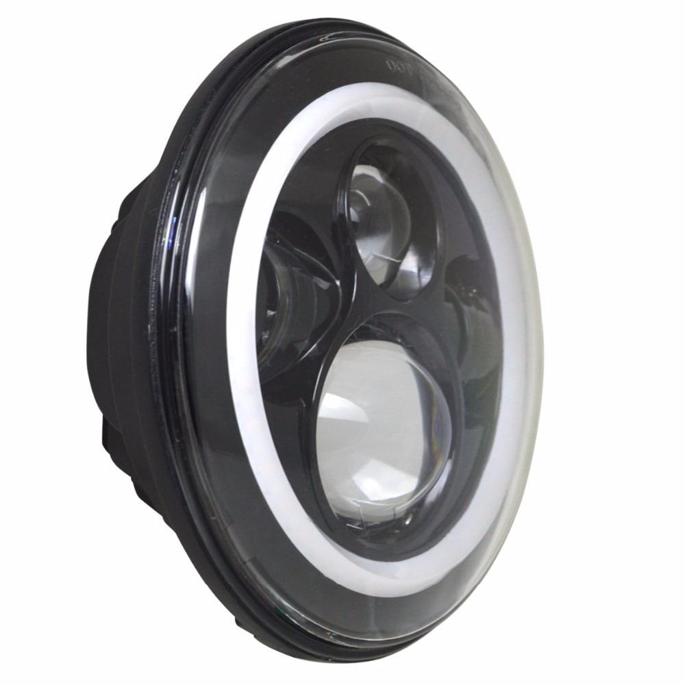 2PCS Λευκό με λευκό 7 '' LED προβολέα H4 Hi / Lo - Φώτα αυτοκινήτων - Φωτογραφία 3