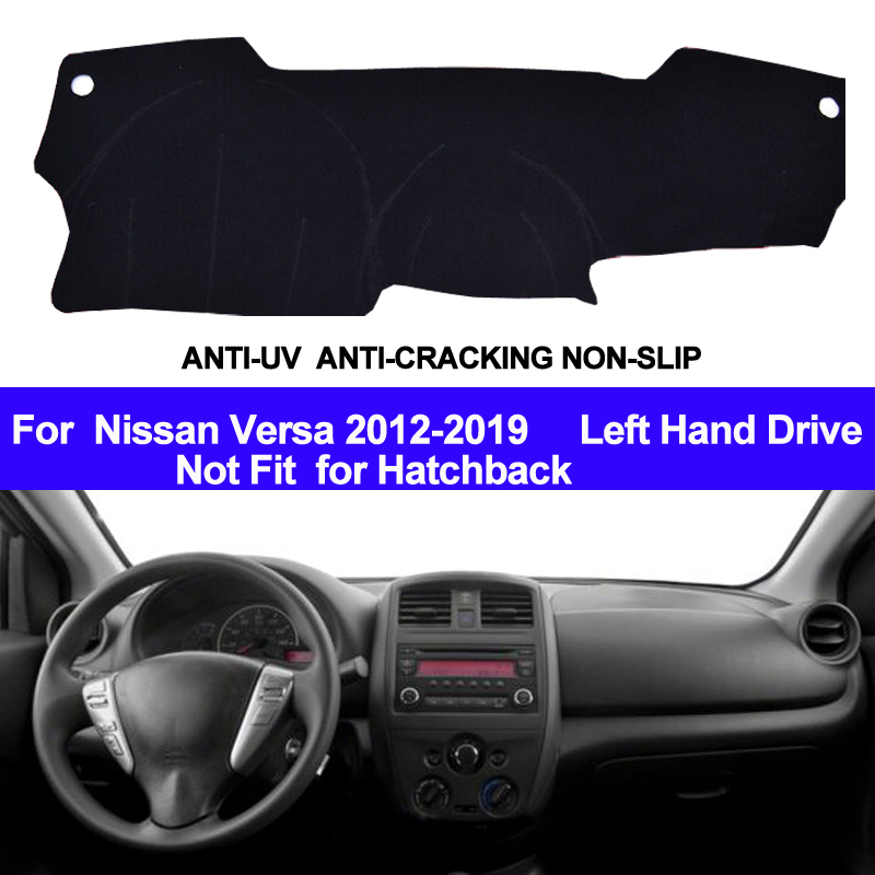 Taijs Car Dashboard Cover Dash Mat Pad Auto Dashmat Carpet Anti Uv Non Slip For Nissan Versa 2017 2018 2019