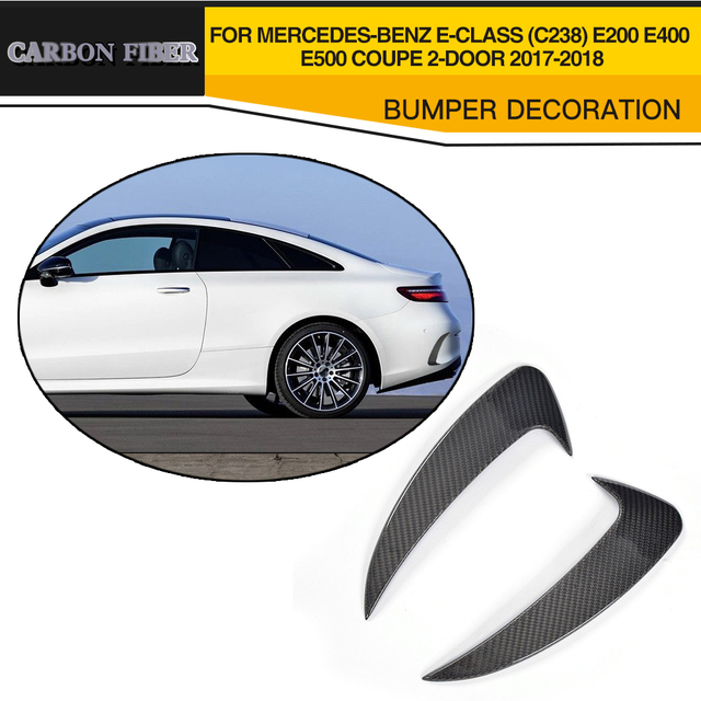 Carbon Fiber Rear Bumper Side decoration Vent Splitters for Mercede Benz E Class C238 E200 E400 E500 Coupe 2 Door 2017 2018
