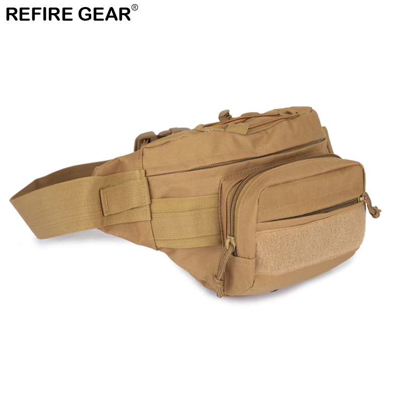 Refire Gear Outdoor Backpack Men Nylon Backpacks Male Hiking Climbing Camouflage Waterproof Chest Bag MOLLE SystemWaist Bag