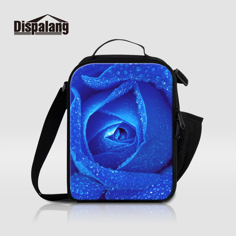 9159ac049cd7 Dispalang Flower Pattern Insulated Lunch Bags For Women Work Kids Small  Food Storage Lunch Box Girls Cooler Bag Thermo Lancheira-in Lunch Bags from  ...