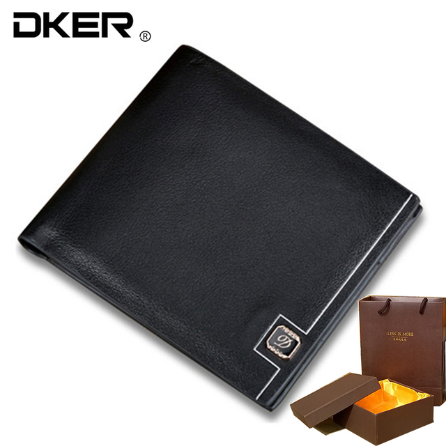 9e1caa8d381f0 2016 mens wallets purse card holder man genuine leather wallet gift box  package