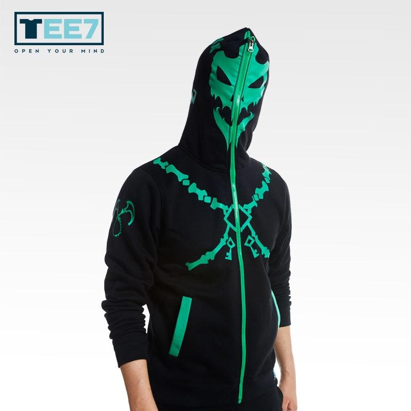 TEE7 Game LOL Cotton Hoodies lol Zed and Thresh Luminous Sweatshirts Fashion and Slim High quality Cosplay custume