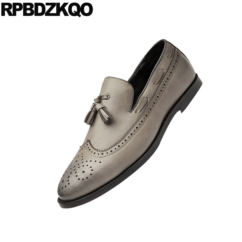 Elevator Slip Casual Hommes black Bateau Golden On Cuir Caoutchouc Mocassins En Et Nouveau 2018 red Richelieu Chaussures Gland Style Elevator red Bout Pointu Wingtip Automne British Printemps qxwptfqSR