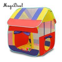 MagiDeal складной 2 в 1 Портативный детей Playhouse Крытый Открытый поп палатку туннеля Набор для кемпинга берег парк дома