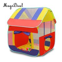 MagiDeal Foldable 2 In 1 Portable Kids Children Playhouse Indoor Outdoor Pop Up Tent Tunnel Set for Camping Beach Sea Park Home