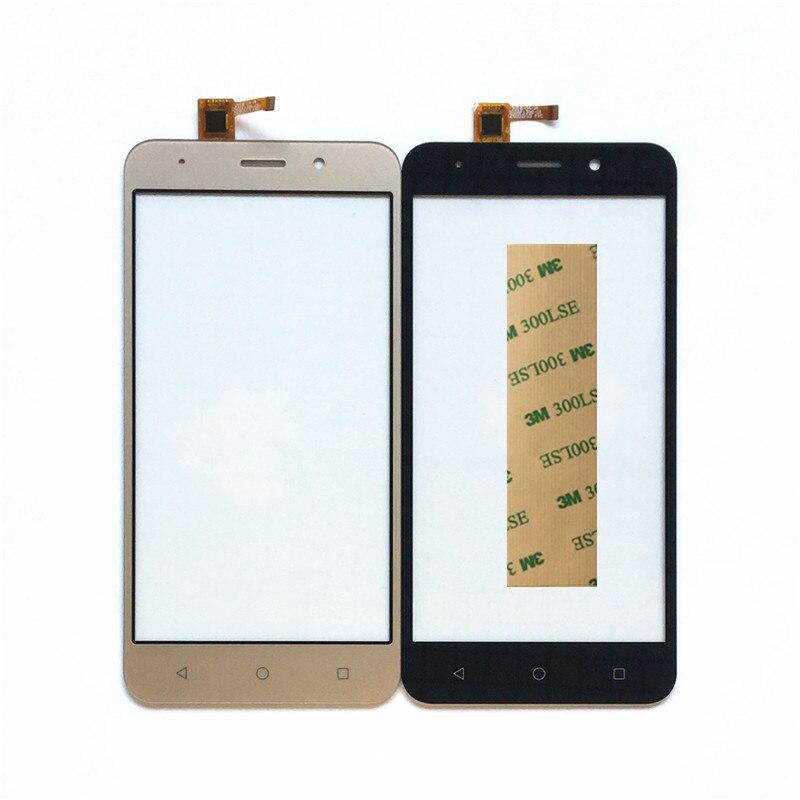 SARA NELL Téléphone Capteur Tactile Écran Tactile En Verre Pour Vertex Impressionner chance Tactile Smartphone écran tactile Panneau avant En Verre + bande
