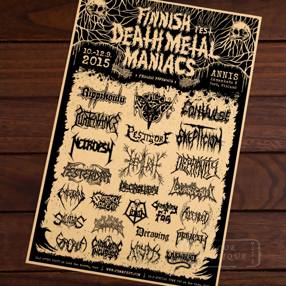 aliexpress com buy the finnish death metal music vintage retro