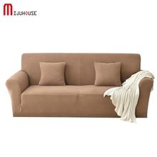 2018New Elastic Sofa Cover Fleece Full Fabric Nonslip Slipcover Pure Cushion Towel Seasons Universal