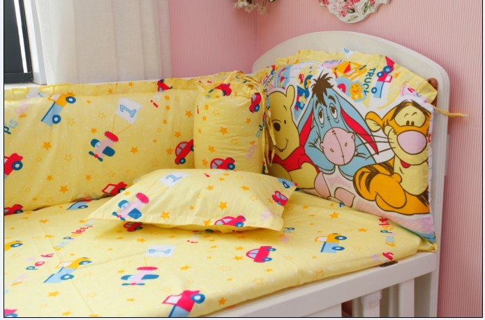 Promotion! 6PCS Baby bed sheets crib bedding set Bedding crib set for girls ,include(bumper+sheet+pillow cover)Promotion! 6PCS Baby bed sheets crib bedding set Bedding crib set for girls ,include(bumper+sheet+pillow cover)