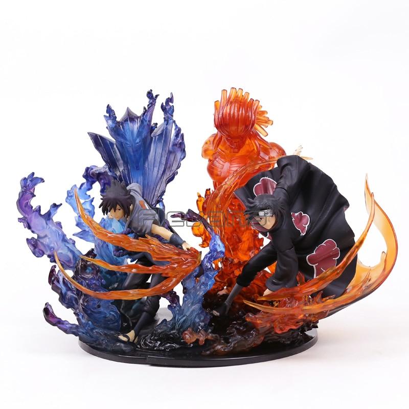 Naruto Uchiha Itachi Sasuke Susanoo Kizuna Relation PVC Figure Collectible Model Toy