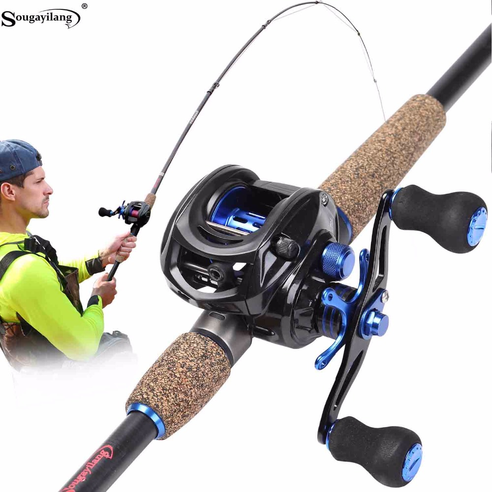 Sougayilang Telescopic Fishing Rod and Baitcasting Reel Sets Portable Lure Fishing Rod Kit Spinning Fishing Rod Rod Combo pesca sougayilang 1 8 3 0m telescopic fishing rod set and 14bb metal spool spinning reel spinning fishing rod reel combo cana de pesca
