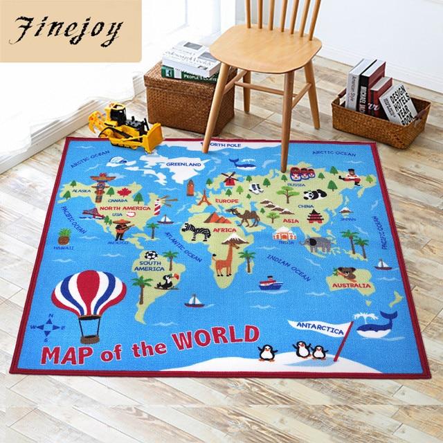 Fine joy cartoon world map design carpet 100x150cm rectangle rug fine joy cartoon world map design carpet 100x150cm rectangle rug living room bedroom mat soft rugs gumiabroncs Gallery