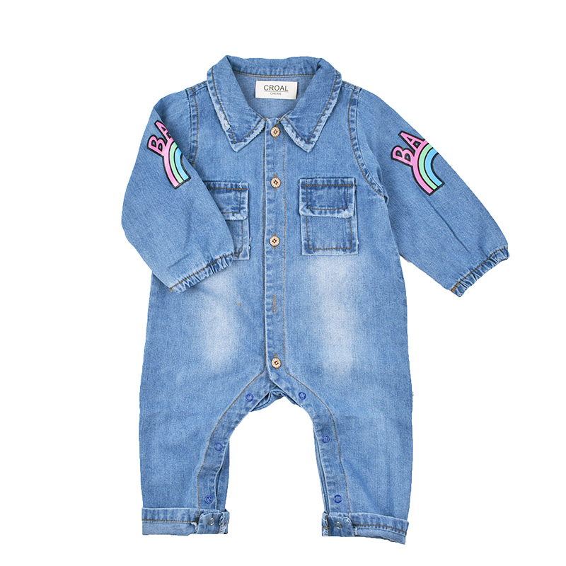942221e04d7d9 ... Clothes Denim Baby Girls Boys Romper Jumpsuit New Born DSC_0949  DSC_0950 Croal Cherie Kawaii Rainbow Pringting ...