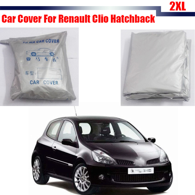 Outdoor Car Cover Sun Snow Rain Frost Resistant Protector UV Anti Cover For Renault Clio Hatchback Free Shipping !