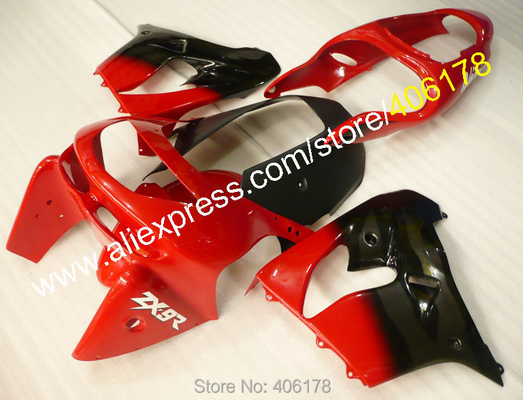 Hot Sales,Custom Cowling For Kawasaki Ninja ZX 9R 98/99 ZX9 R 98 99 ZX 9R 9R 1998 1999 Red Black Fairings ABS Parts For Sales