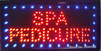 CHENXI Graphics New Neon Spa Pedicure open sign eye catching Flashing Lights Animated Led Sign 10X19 inch Wholesale