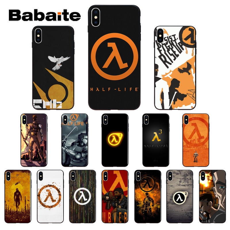 Babaite Half Life Pattern TPU Soft Phone Accessories Cell Phone Case for Apple iPhone 7 8 6 6S Plus X XS MAX 5 5S SE XR Cover