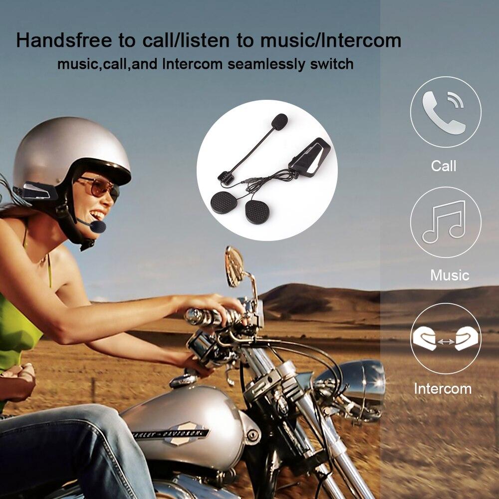 Fodsports 2 stücke T9S helm intercom moto rcycle bluetooth helm headset BT sprech wasserdicht kommunikation intercom moto FM