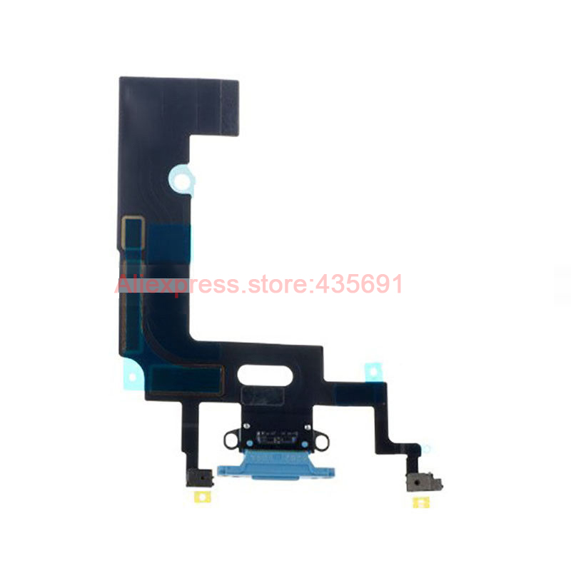 10Pcs/lot Free DHL Original USB Charger Dock Charging Port Connector Microphone Flex Cable For iPhone XR 6.1 Mobile Phone Parts