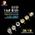 1W 3W LED Bulbs High power Lamp beads Pure White/Warm White 300mA 600mA 3.0-3.6V 100-220LM 30-45mil Taiwan Chip