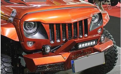 Replacement Auto Parts >> Free Shipping Black ABS Eagle eyes Grille For Offroad Wrangler JK 2007 2015 accessories-in ...
