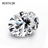 BOEYCJR Custom D Color Oval Cut Brilliant Cut Moissanite Loose Stone Excellent Cut Jewelry Making Engagement Ring