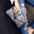 European and American women handbags fashion original serpentine double 2016 new simple chain bag crocodile clutch