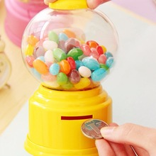 Креативные милые конфеты мини Gumball машина Монета Банка Игрушка диспенсер цена Рождественский магазин подарок на день рождения