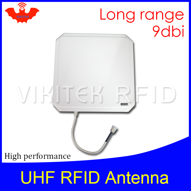 UHF RFID antenna Vikitek VA09 high performance 915MHZ Long range RFID Panel antenna 9dBic 902-928MHZ can be used for rfid reader 1000pcs long range rfid plastic seal tag alien h3 used for waste bin management and gas jar management