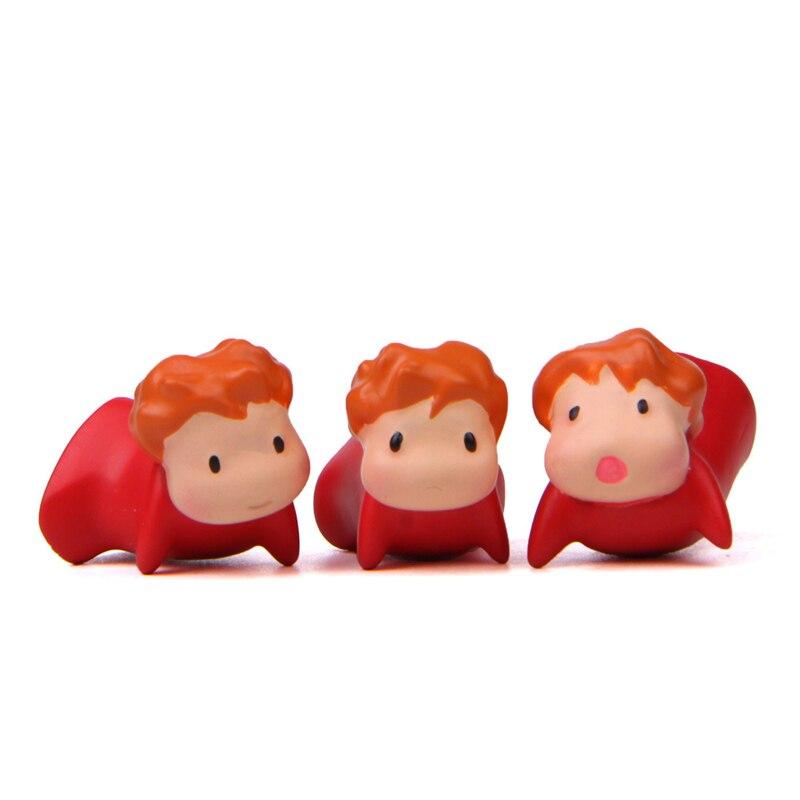 3pcs Studio Ghibli Ponyo on the Cliff Mini Figure Home Refrigerator Decor Gift