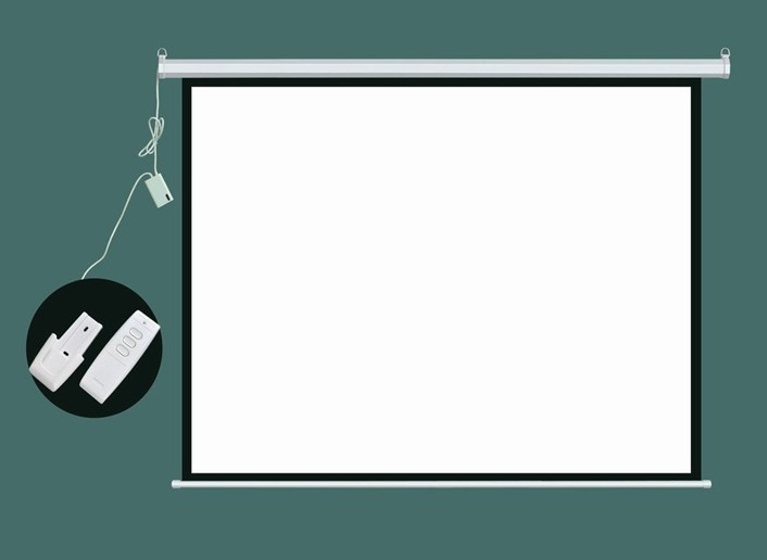 Hd Electric Projection Screen 100 Inch With Remote Control 4