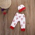 2 Pçs/set Bebê Recém-nascido Do Bebê Crianças Da Menina do Menino Roupas de Algodão Calças Compridas + Chapéu Bonito ou cabeça Set Outfit