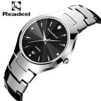 Readeel Top Luxury Brand Men Full Tungsten Steel Watches Men's Quartz Analog Watch Man Fashion Sports Army Military Wrist Watch