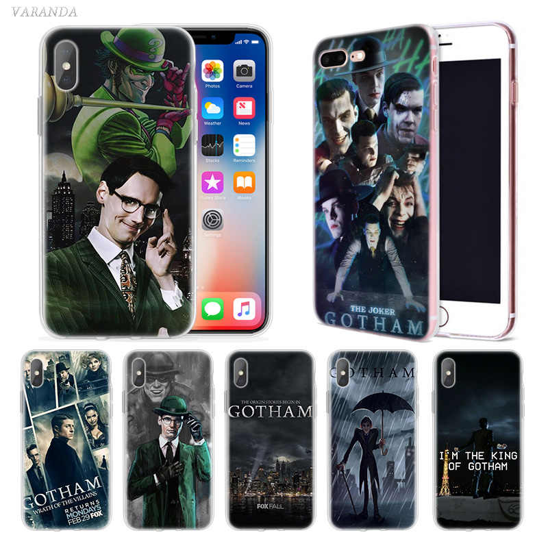 American TV Gotham Case untuk iPhone X Max XR X 10 7 7 S 8 6 6 S PLUS 5 5SE 5C 6 + 7 + 8 + Funda Capa Silikon Cubre Phone Cover Coque