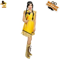 DSPLAY Carnival New Style Pocahantas Party Costume Ancient Women Cosplay Lady Fancy Dress Sexy Indian Woman Roleplay Outfits