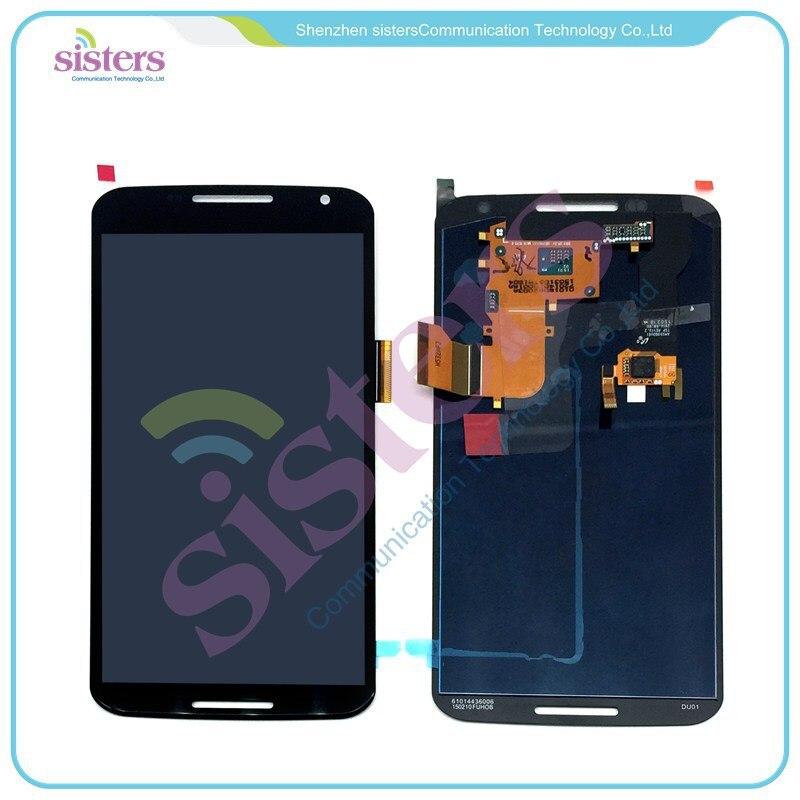 Assemblée originale de numériseur d'écran tactile d'affichage à cristaux liquides avec le cadre pour Motorola Google Nexus 6 XT1100 XT1103 livraison gratuite