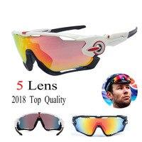 2018 JBR Polarized Cycling Glasses Racing 5 Lens Men Cycling Sunglasses Goggles UV400 Cycling Eyewear Sports