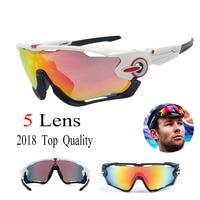 2018 Brand JBR 5 Lens Polarized Cycling Sunglasses Goggle Racing Men Cycling Glasses UV400 Cycling Eyewear