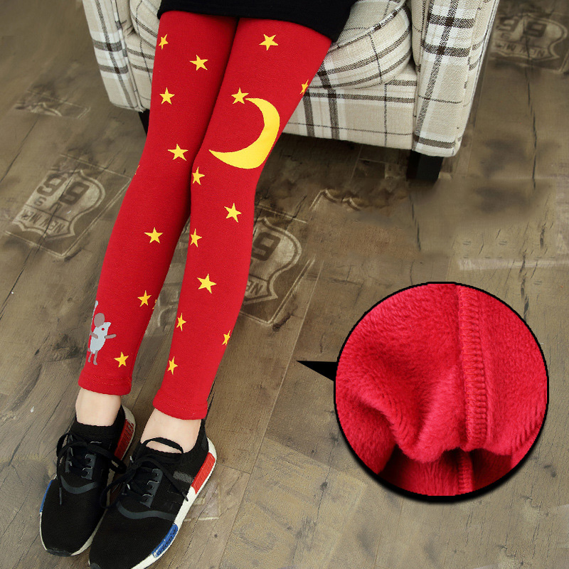 купить kids girls winter plus velvet leggings 2017 new baby girls' clothing fashion big virgin thicker pants 6/7/8/9/10/11/12 years по цене 2028.79 рублей