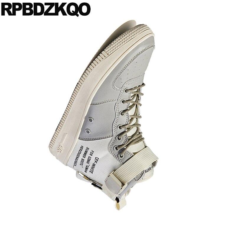 Up Botas Plataforma Tornozelo Plus Moda Size Trainer vermelho Da Top Sapatos preto Tênis Lona Lace Pista branco Homens Khaki Grossa Grandes De Único Alta Sola T0nw7qnx