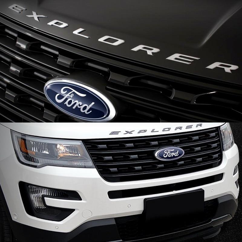 for ford explorer sport silver black hood emblem letters gloss finish 2011 2012 2013 2014 2015