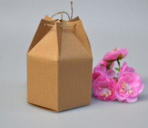 Image 1 - Оптовая крафт бумажная коробка с веревкой маленькие подарочные коробки для бутика выпечки печенья/конфеты упаковочная коробка картонная коробка 50 шт