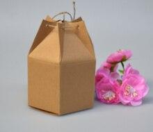 Toptan Kraft kağit kutu Halat ile Küçük Hediye Kutuları Butik Pişirme Çerez/şeker ambalaj kutusu Karton Karton 50 adet