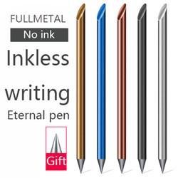 Novelty Cool Undead Full Metal Eternal Pen Gold Fountain Pen Gift Box Inkless Beta Pens Luxury Writing Stationery Office School