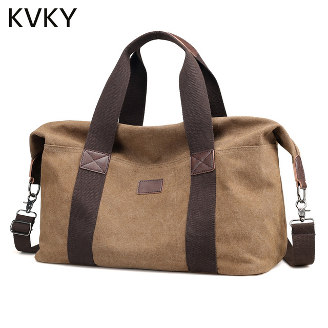 Fashion Canvas Men Travel Bag Large Capacity Man Hand Luggage Travel Duffle  Bags Weekend High Quality Tote Bags Handbags 52f55e955e5e5