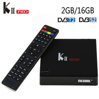 Кии Pro Android TV Box DVB-T2 DVB-S2 спутниковый ресивер Android 5.1 Amlogic s905 2 г/16 г 2.4 г WI-FI Bluetooth 4.0 2 К * 4 К Smart TV