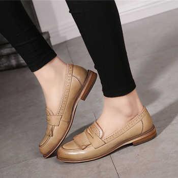 100% Genuine sheepskin leather designer vintage yinzo ladies flats shoes handmade red black beige oxford shoes for women 2018