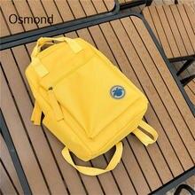 619f900093e8 Osmond 2018 Women Yellow Back Packs Feminine Canvas Backpack For Teenager  Girls Casual Travel Mochila Satchel